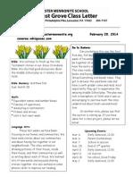 Newsletter 2-28-14