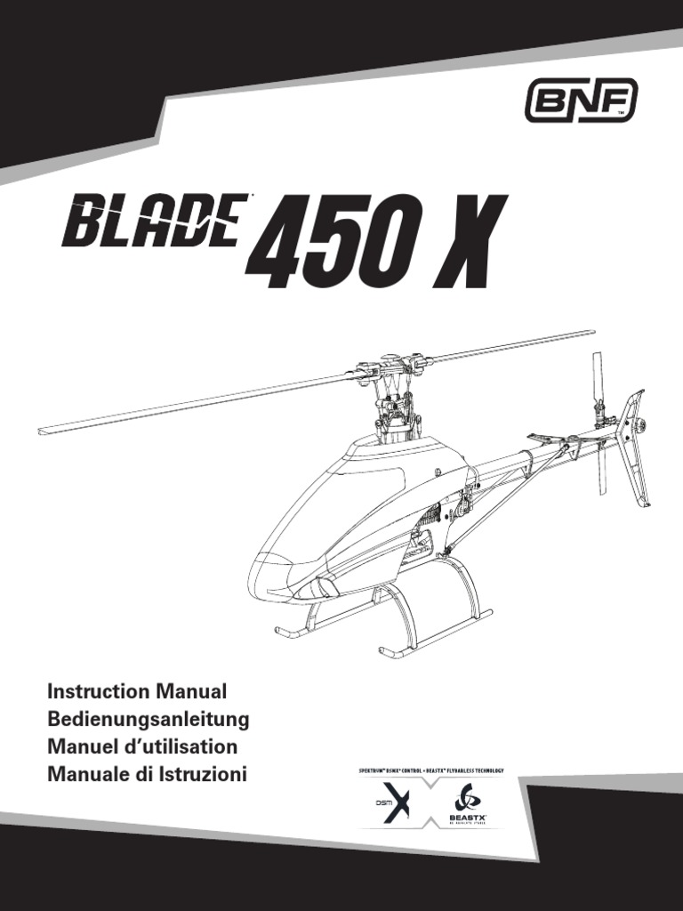 Elicottero 450 : Blade® 450 x instruction manual battery charger helicopter