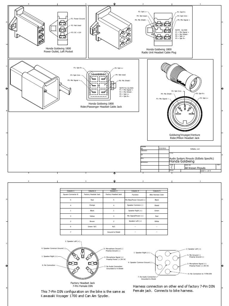 Intercom-Pinouts.pdf | Electrical Connector | Microphone