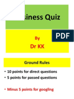 Business Quiz I for MIB and MBA students