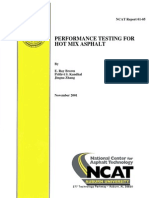 Performance Testing for Hot Mix Asphalt