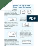 Propiedades de los ácidos carboxílicos y sus derivados