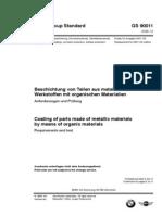 GS 90011 (2006) - BWM Standard Coatings on Metallic Materials