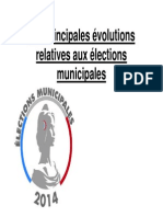Principales évolutions élections municipales