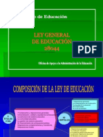 Ley General de Educacion 28044