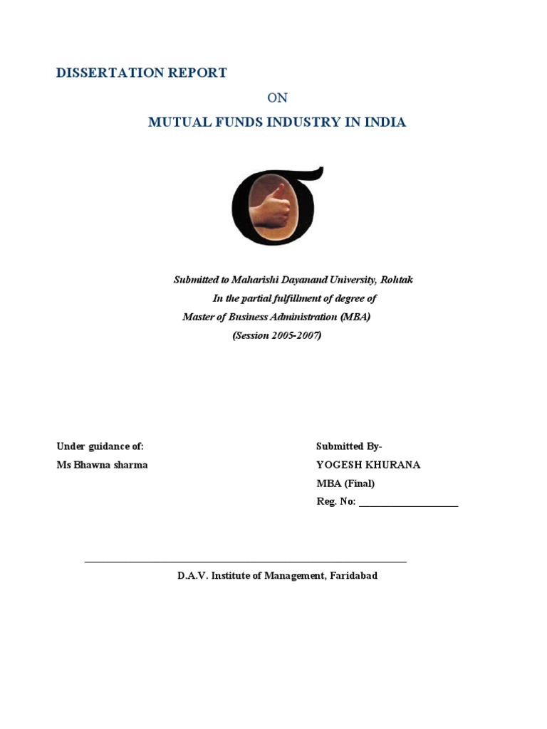 Dissertation report on mutual funds industry in india mutual dissertation report on mutual funds industry in india mutual funds securities finance nvjuhfo Choice Image