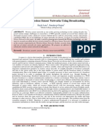 Security in Wireless Sensor Networks Using Broadcasting