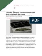 Cientistas brasileiros assinam manifesto pela descriminalização das drogas