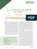 Evolution of El Nino 2002-03 - McPhaden