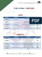 Premios Final COAC 2014