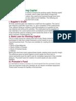 Financing Working Capital Editing