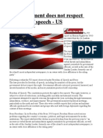 SL Government Does Not Respect Freedom of Speech - US
