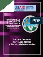 Propuesta Carrera Docente Parte Academica y Tecnico Administrativa