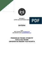 Job Sheet 1. Baterai