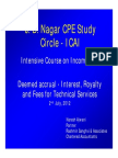 Interest Royalty & Fees for Technical Services JB Nagar CPE Study Circle-ICAI 2 July 2012