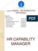HRM_sec B_Group 3_JobAnalysis of an HR Position