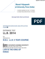 BVP BBA LLB 5 Year Course