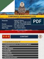Corporate Governance Ppt R N Zhasa