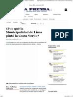 ¿Por qué la Municipalidad de Lima pintó la Costa Verde_ _ La Prensa