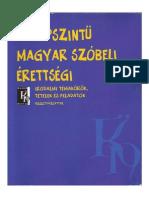 közép magyar szóbeli