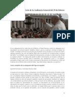 Papa Francisco AUDIENCIA