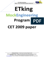 CET 2009 Actual Paper Revised 1.1(1)