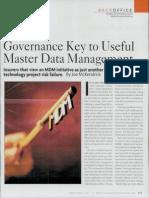 Governance Key to Useful Mdm