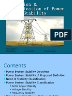 Definition & Classification of Power System Stability