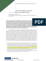 Interpreting the Last Supper Sacrifice, spiritualization, and anti-sacrifice.pdf