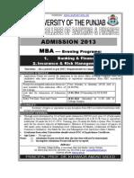 EMBA Admission Advertisement 2013