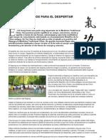 Qigong, Ejercicios Para El Despertar