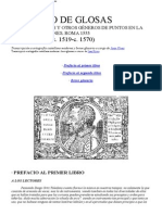 Diego Ortiz Prefacios Del Tratado de Glosas