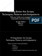 Writing Better Ant Scripts