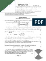 Math Prelim - 2 2009-10