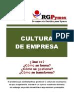 Rgpymes Curso Cultura de Empresa