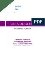 2012 UAlcalá_GUIA DOCENTE Fisiología Humana