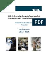 MSc Study Guide 2013-14 Final
