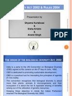 Biodiversity Act & Rules