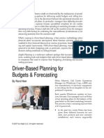 Driverbased Budgets and Forcasting