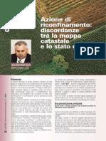 Riconfinamento Discordanze Tra Mappa Catastale e Stato Di Fatto - Topografia Catasto Diritto