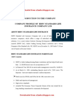 MBA Summer Project on HDFC Standerd Life Insurance