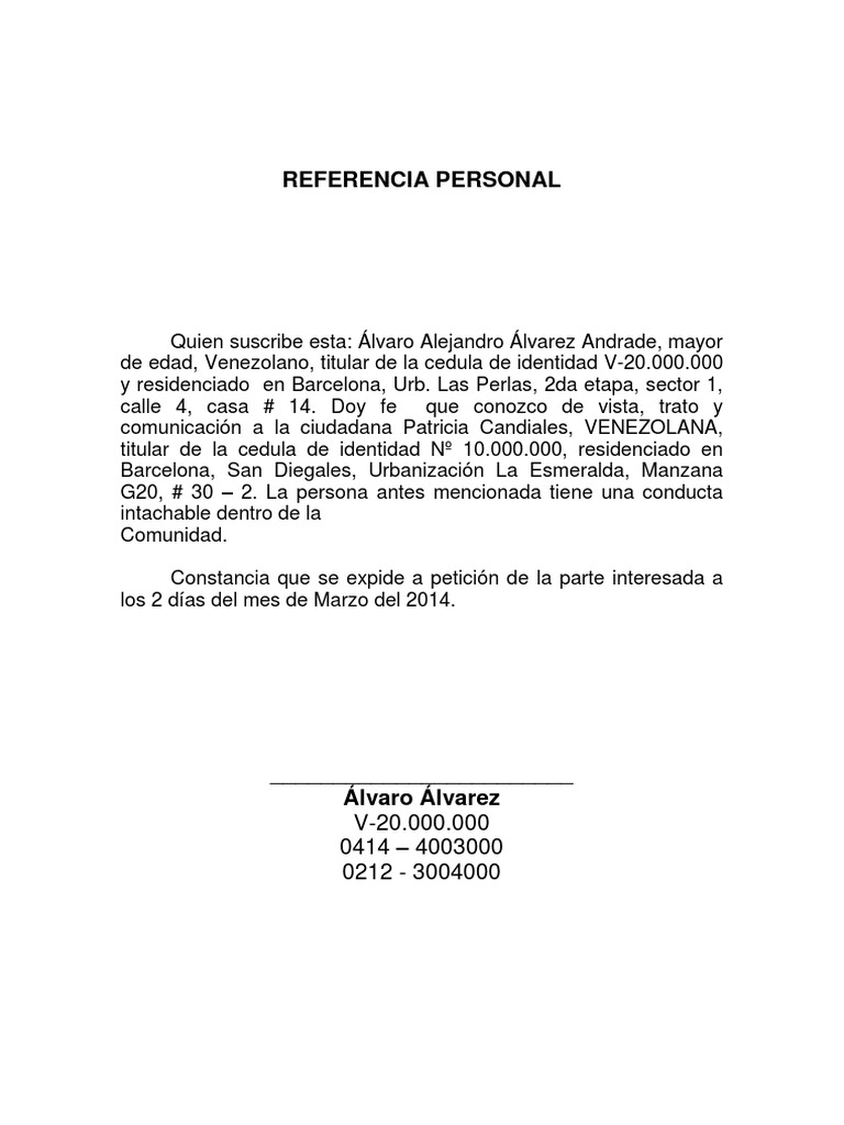 Asombroso Ejemplos De Formato De Referencia De Reanuda Bosquejo ...