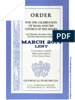ORDO 2013/2014 Order for celebrations in March