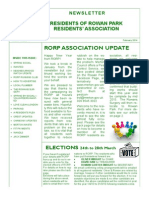 Residents of Rowan Park Newsletter, February 2014