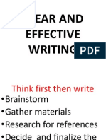 Clear and Effective Writing