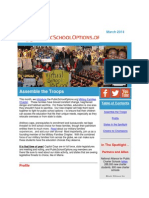 PublicSchoolOptions.org March 2014 Newsletter