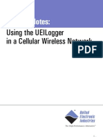 Using the UEILogger in a Cellular Wireless Network