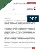 7 El Sistema Educativo Durante El Sexenio de Felipe Caldero