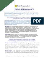 Mastering Performance Flyer - Website