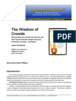 Wisdom of Crowds -Book Summary